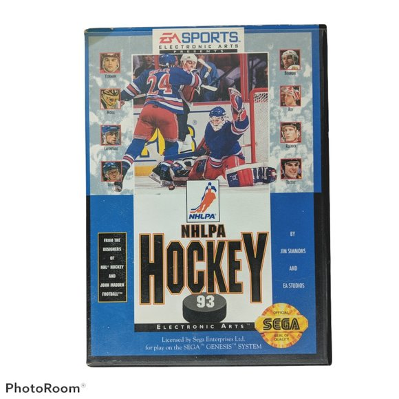 NHLPA Hockey 93 (Sega Genesis, 1992) Game Case